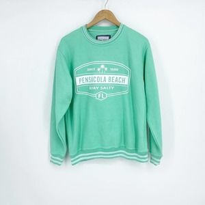 PACIFC & CO Pensacola Beach Mint Green Pullover M